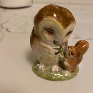 Beatrix Potter's Old Mr. Brown owl & squirrel